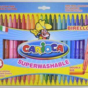 Carioca kétvégű 24 színű filc